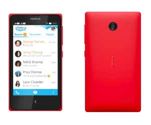 Nokia X DUAL red ENG/RUS